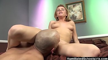 HumiliatedSchoolGirls - Teen swallows a load to pay for the ride thumbnail