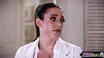 Naughty lesbian doc seduces coma wife
