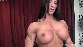 Nude female pecs - Female bodybuilder angela salvagno loves having a cock