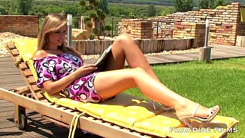 PARADISE FILMS Peaches having fun under the sun