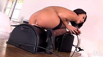 French seductress Nikita Bellucci rides the Sybian till she explodes!