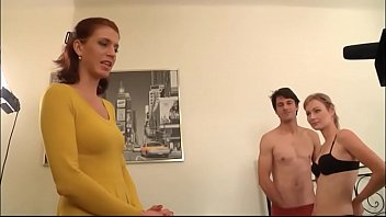 KRISTINE CRYSTALIS present blond babe and her boyfriend on their first shooting