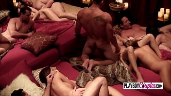 Swing couples head to the Vip room to kick of the swingers party