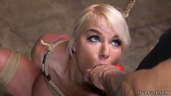 Huge tits Milf in bondage brutal banged