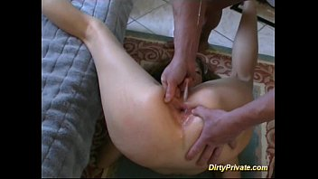cute French slut in extreme anal drilling thumbnail