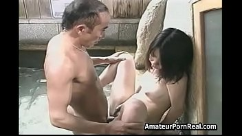 Asian Japanese Bath Spa Old Guy Fucks Excited Girl