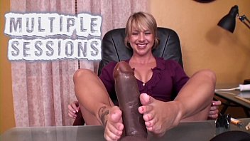 Footjob - Wife Closes Under Table Business Deal