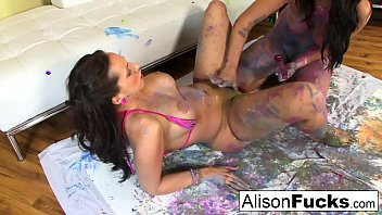Painted lesbians with Alison Tyler and Kelly Divine