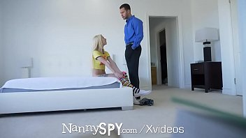 NANNYSPY Big dick sexual workout for her nanny job