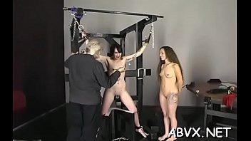 Sexy a-hole women in sensational amateur lesbian show