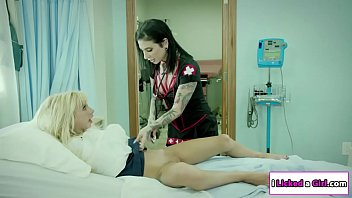 Slut Nurse playing with patients pussy