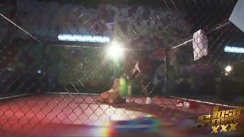 Latina Pornstar Angelina Castro Fucks Black MMA Fighter thumbnail
