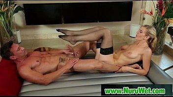 Nuru Massage from Busty Japanes Masseuse 08