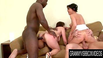 Granny Vs BBC - Interracial DP Foursome with Matures Marika Shine and Nicol