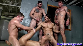 Silver fox gay men porn Spencer fox gets shower groups cumshot