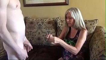 Busty stepmom throats and fucked by her horny stepsons cock