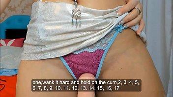 ASMR JOI Jerk off cumming in mouth panties fake cum punheta controlada preview image
