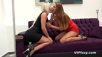 Fingering and pussy licking for naughty piss loving lesbians