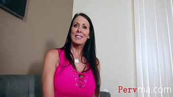 Son talks BUSTY mom into being his bitch
