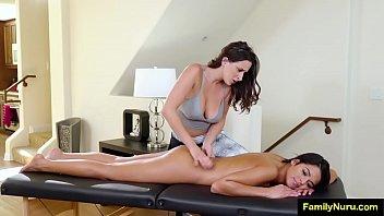 Erogenous lesbian massage-room