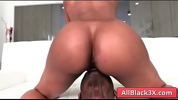 Amazing ebony slut sucking BBC - Misty Stone & Jax Slayher