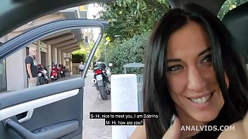 Italian Sluts, Sabrina Ice drinks pee and gets fucked in the ass with exhibitionism, outdoor and swallow GL293