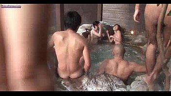 Asian sluts sucking and having sex at pool