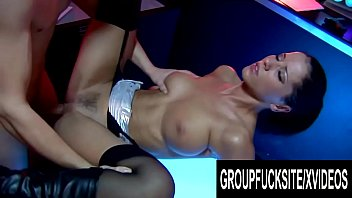 Group Fuck Site - Three Busty Strippers Drain Their Patrons Cocks