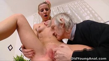 Old man young girl bra breast Nelya gets her breasts licked by older man