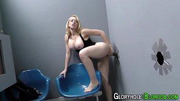 Free teen blonde gloryhole cum shots - Blonde interracial cummed
