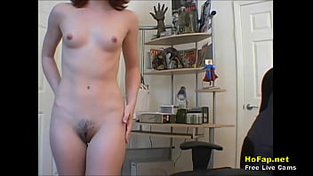 Cute Teenage Showoff Showing Nude Boobs And Hairy Pussy