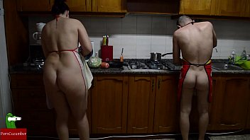 Nella nude outdoors Preparing nude pussy food in the stove
