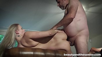 Cunt lickers old young videos Blonde katy sky seduces old man philippe soine to fuck her