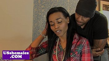 Ebony preggo shemale Smalltit ebony tranny buttfucked