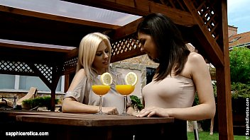 Mimosa Munching - by Sapphic Erotica lesbian sex with Henessy Elma