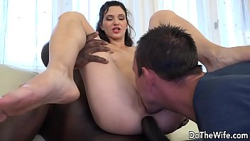 Brunette Babe Lina Arian and Her Husband Talk a Black Dude into Ass Fucking Her preview image