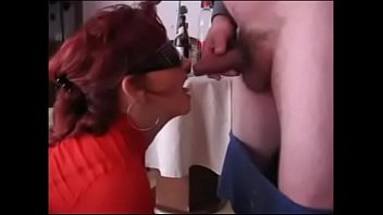 whore drinking and sucking cock