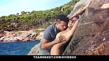 Risky Public Sex On the Beach with a Smoking Hot Latina Model Anya Krey