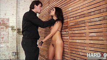 Sexy babe Adriana goes hardcore anal sex with her hunk bf Manuel