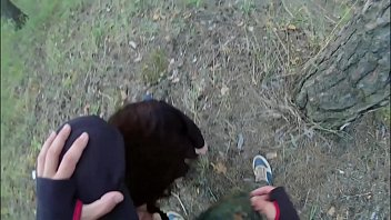 7762 Man forced young girl with long hair sucking cock and fucking in the forest preview