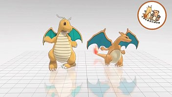 The Same Charizard & Dragonite Video Dancing With Differents Songs
