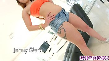 Ass fucking action for seriously sexy Jenny Glam