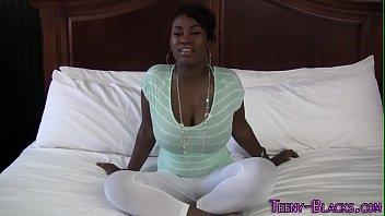 Ebony teenager face jizz