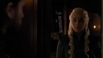 Game of thrones , S7S7, Queen danerys Targeryen, Emilia clarke Sex with Jon Snow