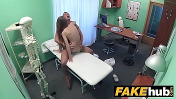 Fake Hospital Sexy reporter gets to the point with blowjob and hard sex