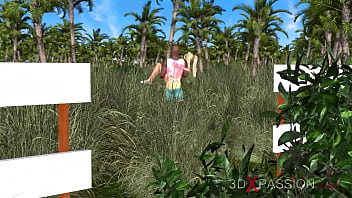 GOLF COURSE. This impressed her. 3D animation thumbnail