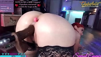 Sexual Essence pounded by fuck machine till squirt