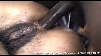 Hairy young black pussy - Perky tit young hairy bush black girl loves a hard anal fuck from massive dick