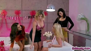 Horny milfs Cory Chase Silvia Saige and Becky Bandini pleasing Rachael Cavalli as they strip their clothes off