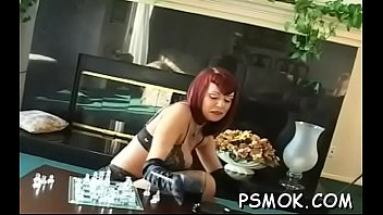 Breasty girlfriends talk and get into some slavery action